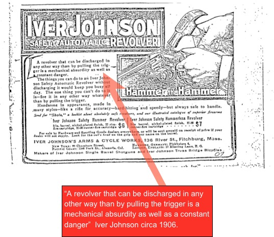 Iver Johnson Hammer the Hammer ad circa 1906